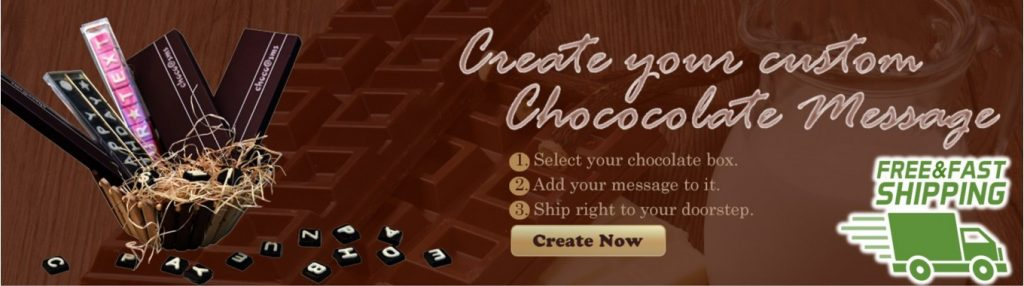 Custom chocolate message