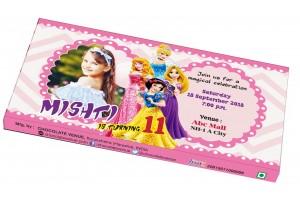 Birthday Invitations-Customized Chocolate Bar Wrapper Princess Theme