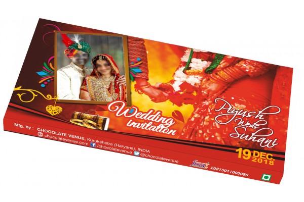 Wedding Invitations-Customized Chocolate Bar Wrapper -Red Theme