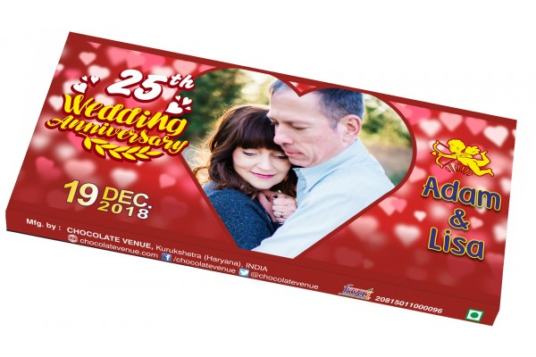 Wedding Anniversary Invitations-Customized Chocolate Bar Wrapper