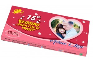 Wedding Anniversary Invitations-Customized Chocolate Bar Wrapper Pink