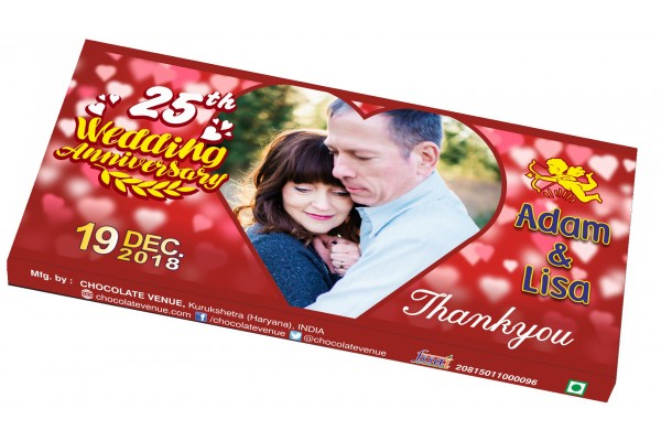 Wedding Anniversary Return Gift-Customized Chocolate Bar Wrapper
