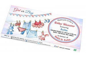Baby Shower Invitation - Cute Customized Chocolate Bar Wrapper