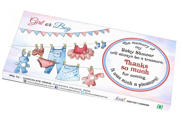 Baby Shower Return Gift - Cute Customized Chocolate Bar Wrapper