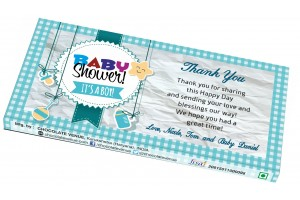 Baby Boy Birth Announcement Return Gift - Customized Chocolate Bar Wrapper