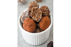 Almond and Fig Chocolate Truffle