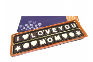I love You MOM Chocolate Message