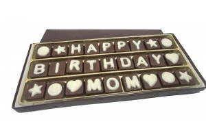 Happy Birthday MOM  Chocolate Message