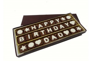 Happy Birthday DAD Chocolate Message