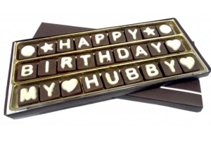 Happy Birthday My HUBBY Chocolate Message