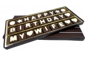Happy Birthday My WIFE Chocolate Message