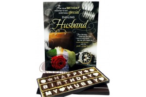 Awesome Birthday Chocolate Message with Greeting Card