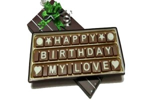 Happy Birthday My Love Chocolate Message for Your Love One
