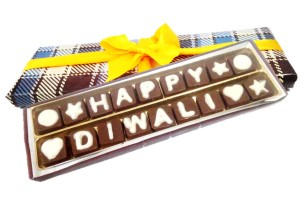 Happy Diwali Chocolate Message