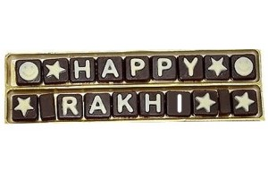 Happy Rakhi Chocolate Message