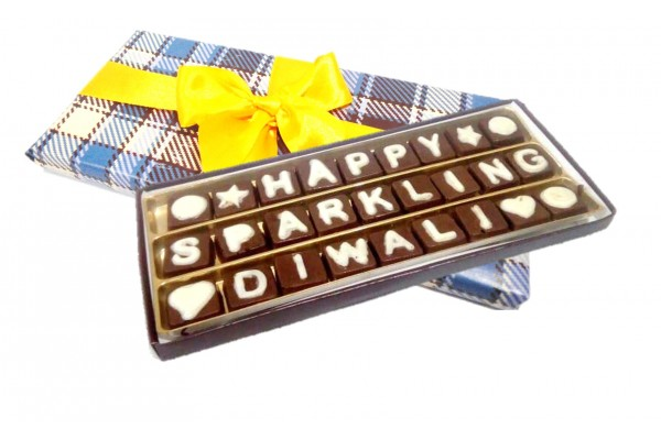 Happy Sparkling Diwali Chocolate Messsage