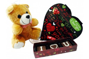 Charming Teddy and Chocolate Gift Pack