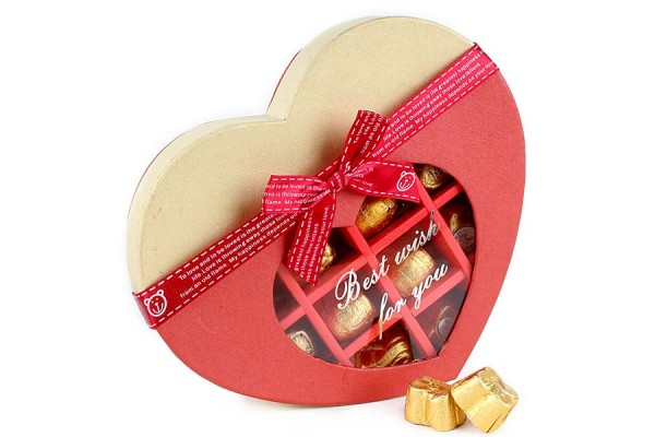 Exotic Heart Shape Chocolate Box - 14 Assorted Chocolates
