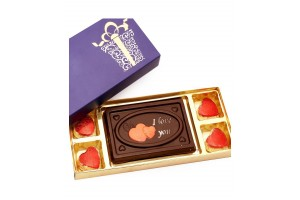 I Love You Chocolate Box with Heart Shape Chocolates