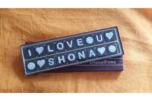 "Sweet "" I LOVE YOU SHONA "" Chocolate Message"