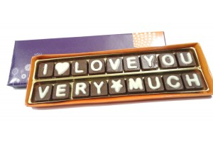 Chocolate Love Message - Sweet Two Line Chocolate Message