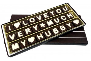 Chocolate Message for Husband/Hubby - A lovable Three Line Chocolate Message