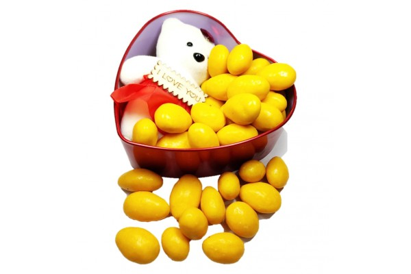 Chocolate Gift Pack - Mango Almonds with Cute Teddy Bear