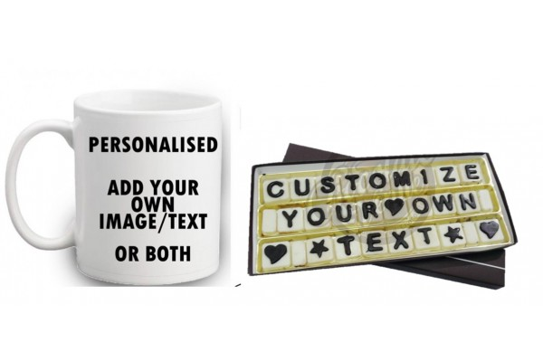 Customized Combo of Mug and Chocolate Message