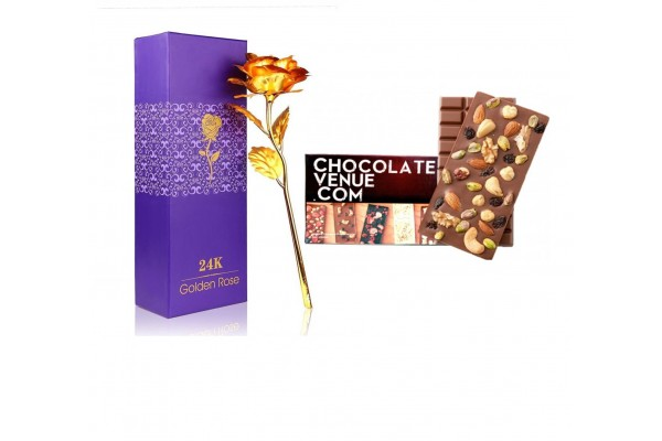 Goden rose with Dry fruit chocolate bar