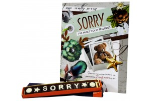 Sorry Chocolate Message with Greeting Card