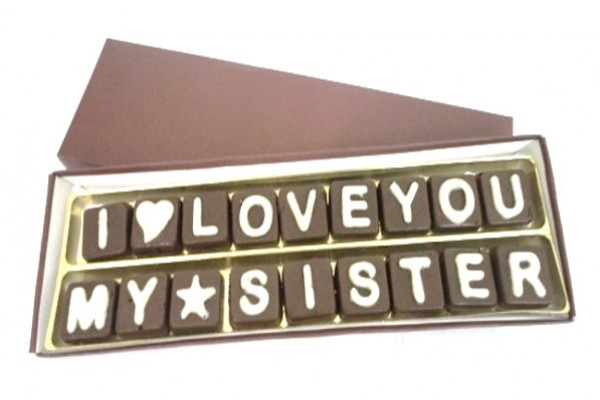I Love You My Sister Chocolate Message