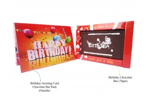 Chocolate Birthday Card Pack