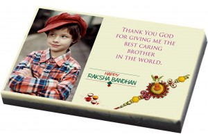 Customised Rakhi Gift for Brother - Custom Chocolate Bar