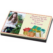 Customised Rakhi Gift for Sister - Photo Chocolate Bar
