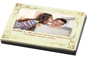 Customized Chocolate Bar - Rakhi Gift for Sister