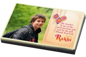 Rakshabandhan Gift for Brother or Sister -Premium Customised Chocolate Bar