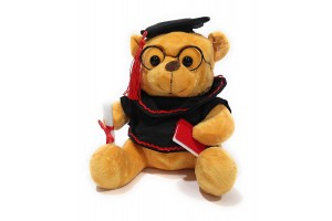 Cute Lawyer Teddy Bear in Sunglasses with Holding Degree