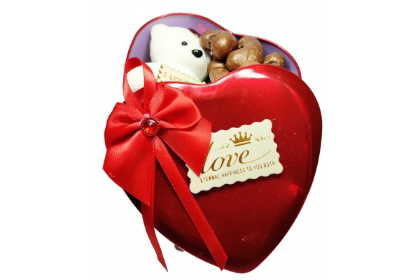 Chocolate Gift Box - Milk Chocolate Coated Cashews with Teddy Bear