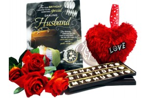 Happy Birthday Chocolate Combo Gift for Husband/Hubby