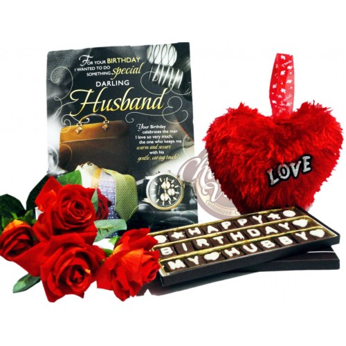 Happy Birthday Chocolate Combo Gift For Husband Hubby