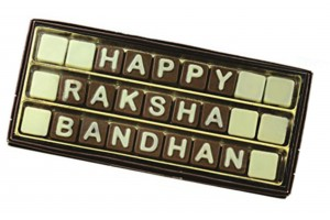 Rakhi Gift for Sister/Brother - Happy Rakshabandhan Chocolate Message