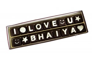 I Love You Bhaiya Chocolate Message - Sweet Rakshabandhan Gift for Brother