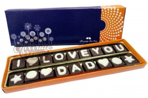 I Love You DAD Chocolate Message