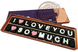 I Love So Much Chocolate Message - Beautiful and Delicious Almond and Crunchy Chocolate
