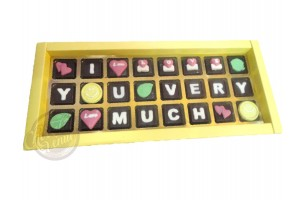 Designer Chocolate Gift Message Box - I Love You Very Much