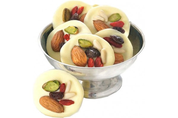Dry Fruit White Chocolate Mendiants