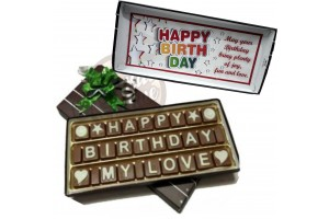 Sweet and Presentable Happy Birthday My Love Chocolate Message