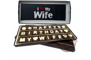Birthday Chocolate Gift for Wife - Happy Birthday My Wife Chocolate Message