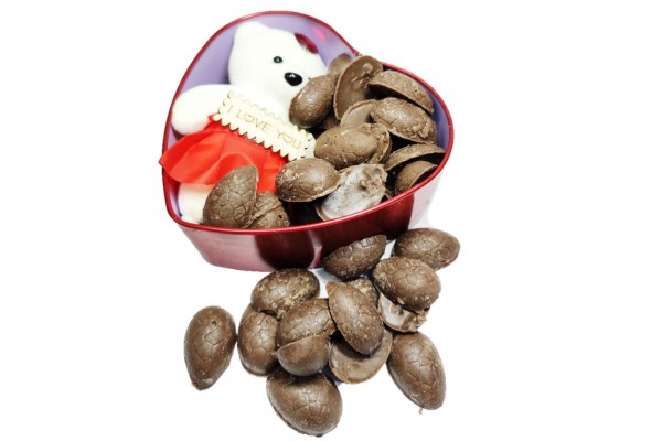 Almond Chocolate Box with Cute Teddy Bear