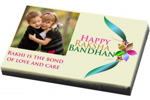 Personalised Rakhi Gift for Brother - Photo Chocolate Bar